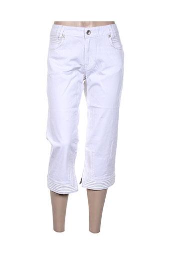 funaki pantacourts femme de couleur blanc