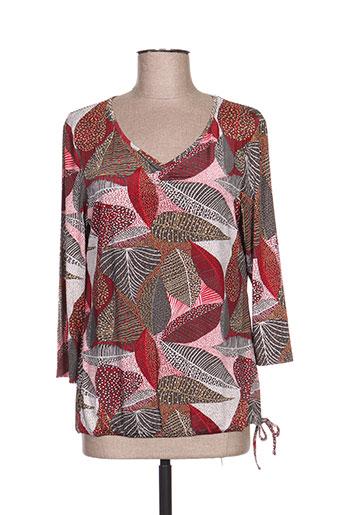 armand thierry chemises femme de couleur rouge