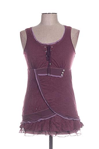 cassis t-shirts femme de couleur violet