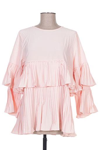 luzabelle chemises femme de couleur rose