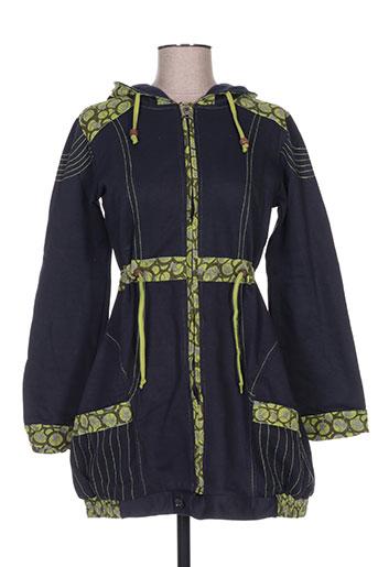 Veste casual vert BAMBOO'S pour femme