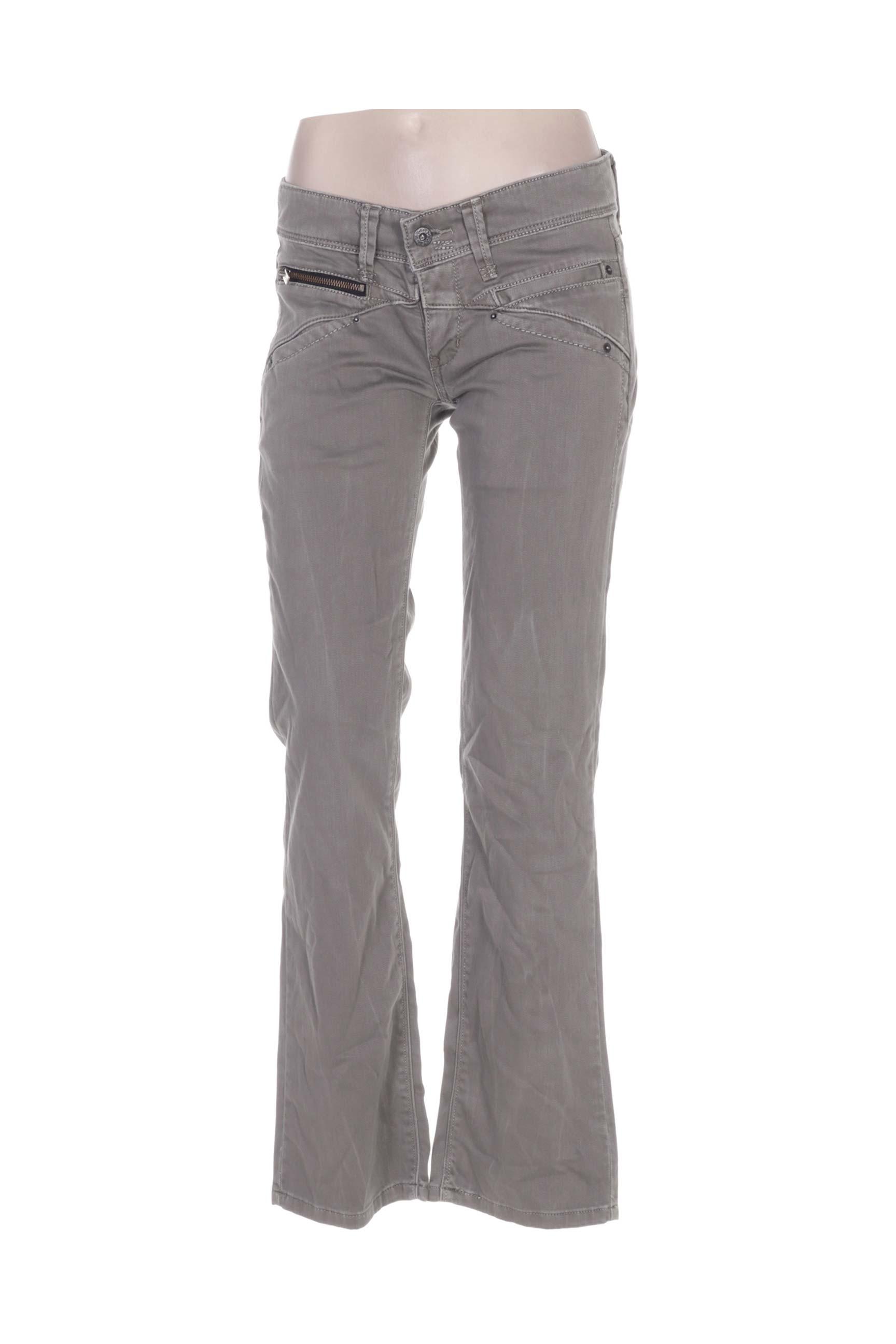 Levis Jeans Coupe Droite Femme De Couleur Gris En Soldes Pas Cher 1194943-gris00 - Modz