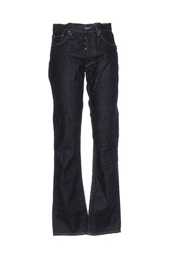 758d2d8343eb0 Chefdeville Jeans Coupe Droite Homme De Couleur Bleu En Soldes Pas ...