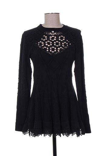 high chemises femme de couleur noir