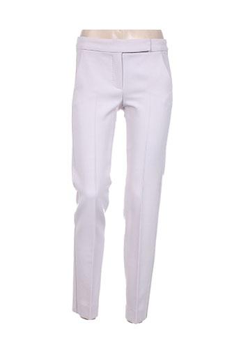 maxmara pantalons femme de couleur violet