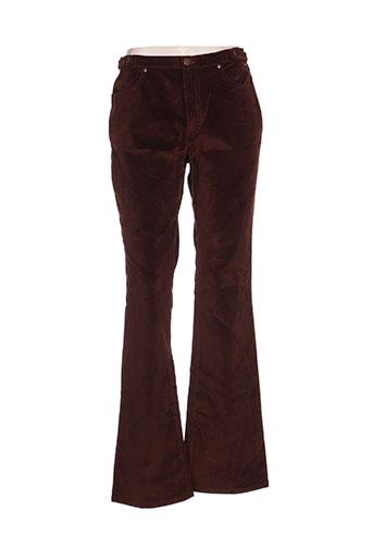 kenzo pantalons femme de couleur marron