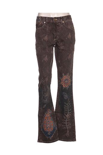 angelo marani jeans femme de couleur marron