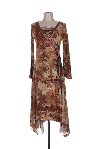 Robe mi-longue marron ROBERTA SCARPA pour femme
