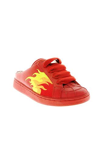buffalo chaussures femme de couleur rouge