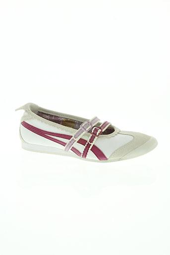onitsuka tiger chaussures femme de couleur blanc