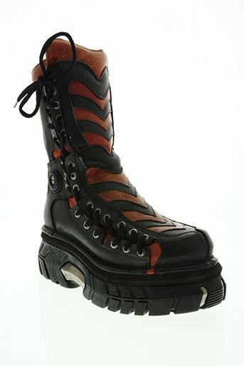 new rock chaussures homme de couleur rouge
