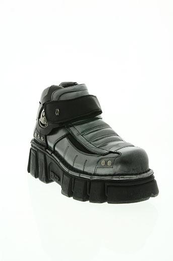 new rock chaussures homme de couleur gris