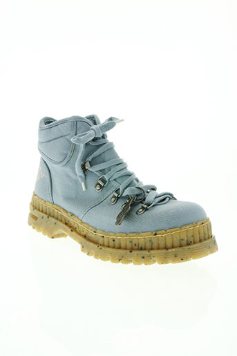 art chaussures homme de couleur bleu