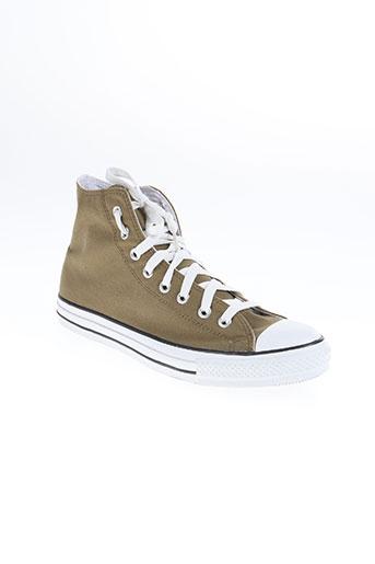 converse chaussures homme de couleur vert