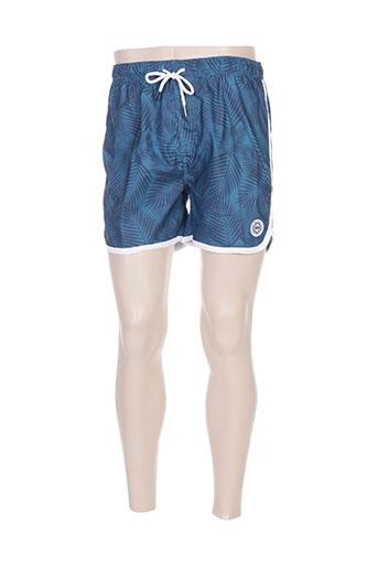waxx maillots de bain homme de couleur bleu
