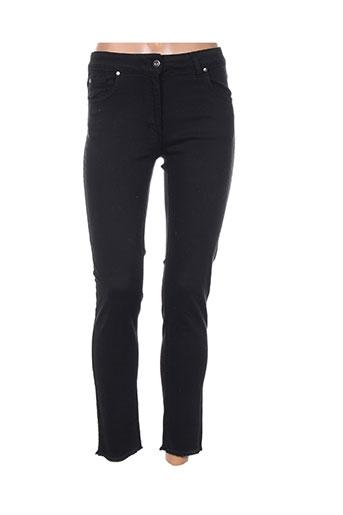 lauren vidal jeans femme de couleur noir