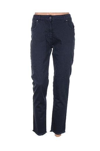 lauren vidal jeans femme de couleur bleu