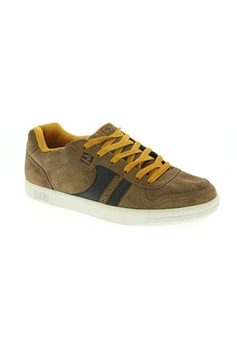 globe chaussures homme de couleur marron