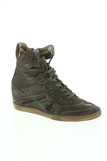 crime chaussures femme de couleur marron