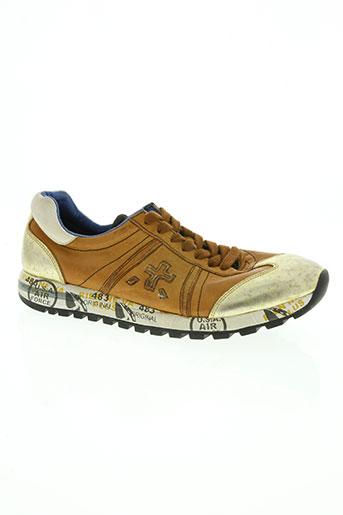 premiata chaussures femme de couleur marron