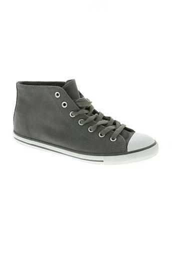 converse chaussures femme de couleur gris