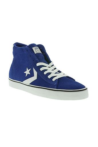 converse chaussures unisexe de couleur bleu