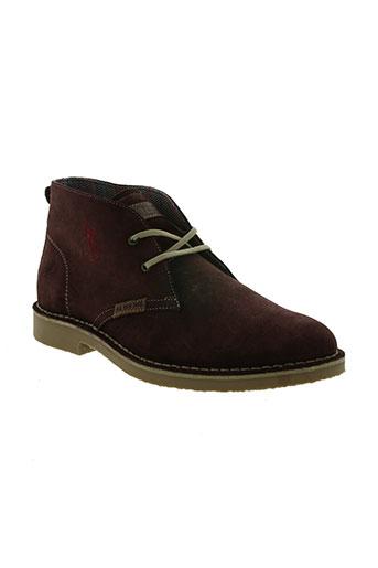 u.s. polo assn chaussures homme de couleur rouge