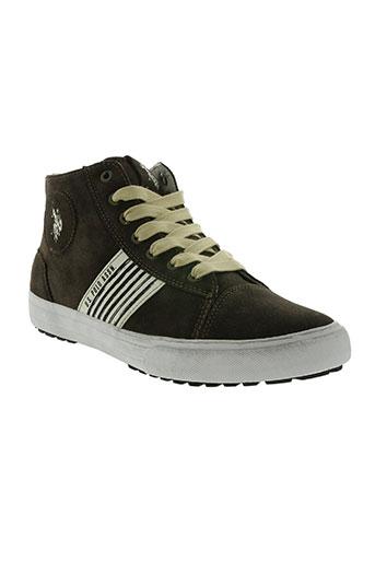u.s. polo assn chaussures homme de couleur marron