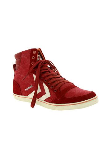 hummel chaussures homme de couleur rouge
