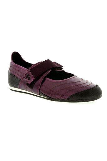 le coq sportif chaussures femme de couleur violet