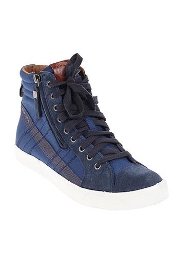 diesel chaussures homme de couleur bleu