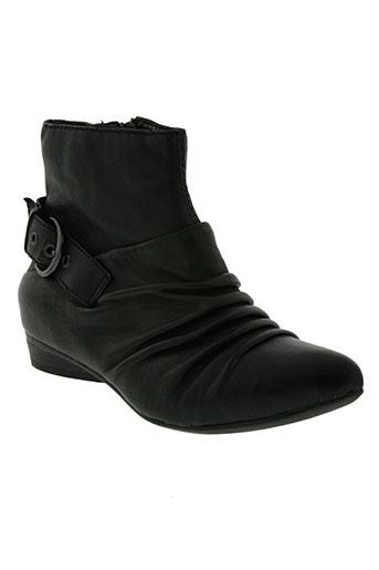bronx chaussures femme de couleur noir