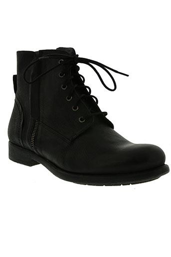 hexagone chaussures homme de couleur noir