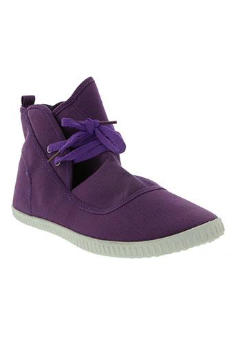 striipe chaussures femme de couleur violet