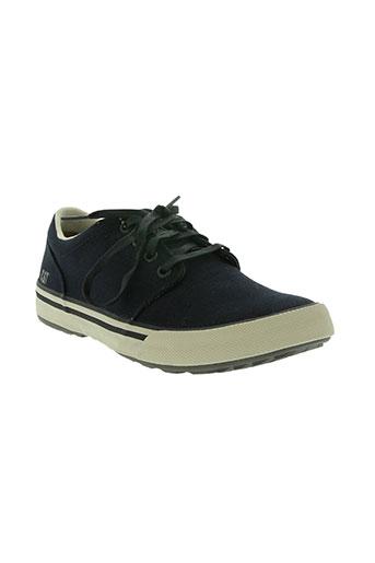 cat chaussures homme de couleur bleu