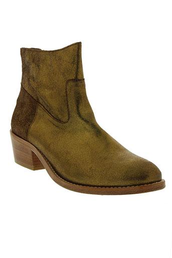 bensimon chaussures femme de couleur jaune