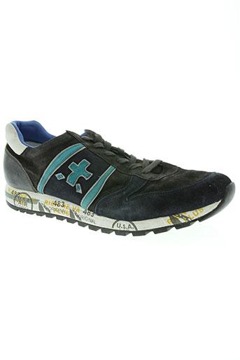 premiata chaussures homme de couleur bleu