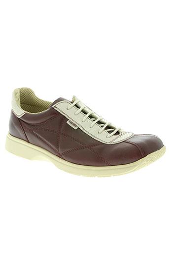 ellesse chaussures femme de couleur rouge