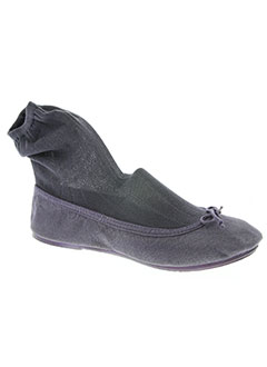 Chaussons/Pantoufles gris THE FRENCH TOUCH pour femme