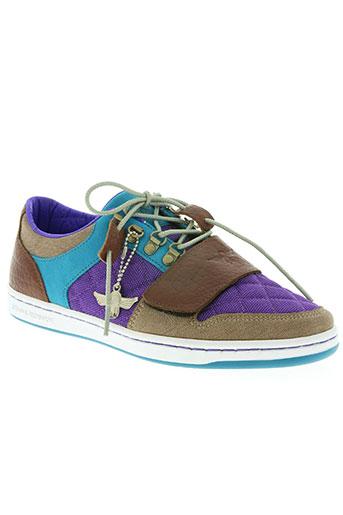 creative récréation chaussures homme de couleur violet