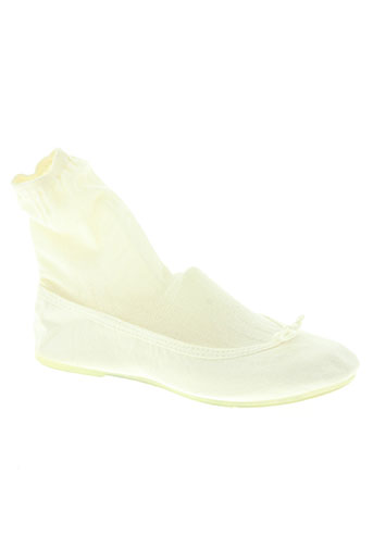 the french touch chaussures femme de couleur blanc