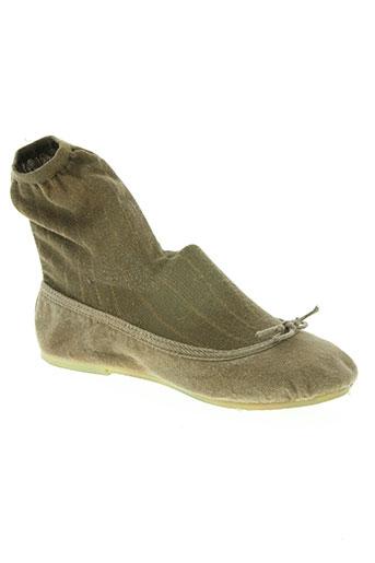the french touch chaussures femme de couleur marron