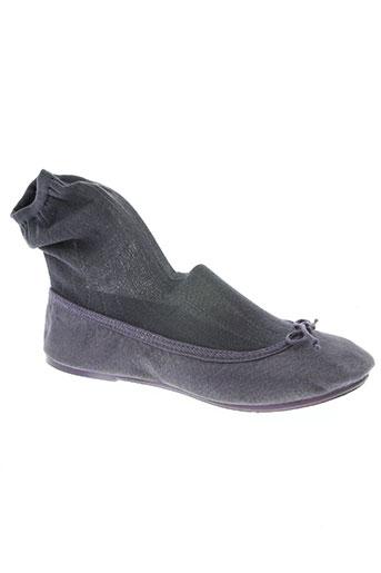 the french touch chaussures femme de couleur gris