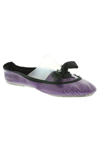 the french touch chaussures femme de couleur violet
