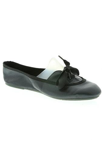 the french touch chaussures femme de couleur noir