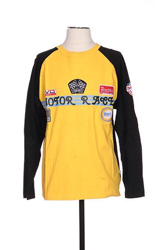 rivaldi t-shirts homme de couleur jaune