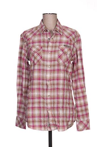 diesel chemises homme de couleur rose
