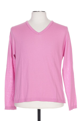 Pull col V rose BOX-OFFICE pour homme