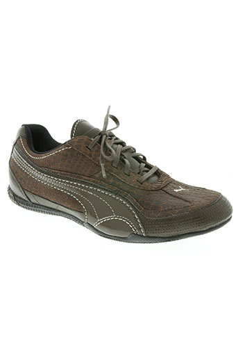 puma chaussures femme de couleur marron