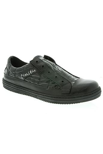 charlelie chaussures homme de couleur noir